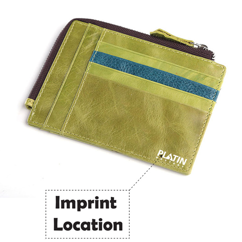 Leather Simple Credit Card ID Holder Imprint Image