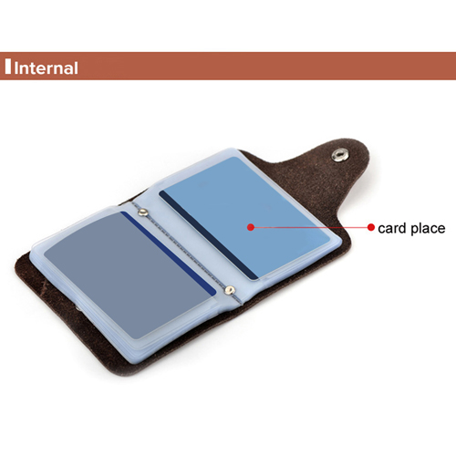 Cow Leather Credit Card Holder Image 5