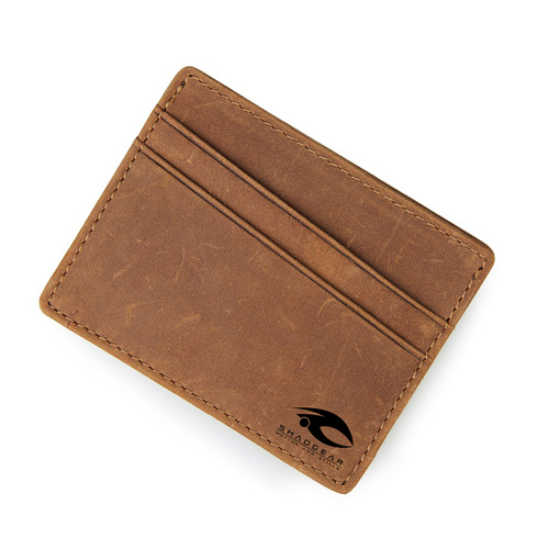 Leather Thin Credit Card Holder Image 2