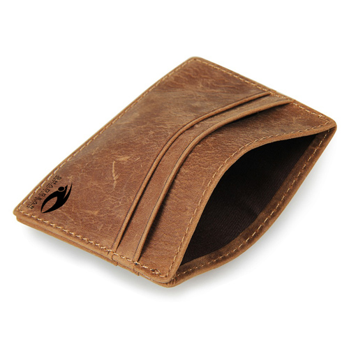 Leather Thin Credit Card Holder Image 3