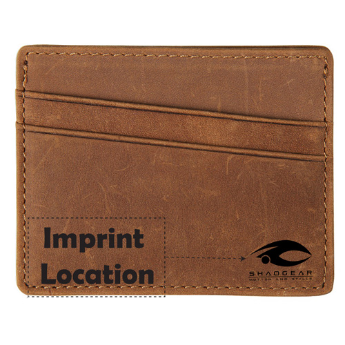 Leather Thin Credit Card Holder Imprint Image