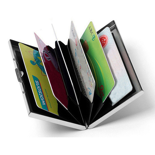 Stainless Steel 6 Slots Business Card Holder Image 1