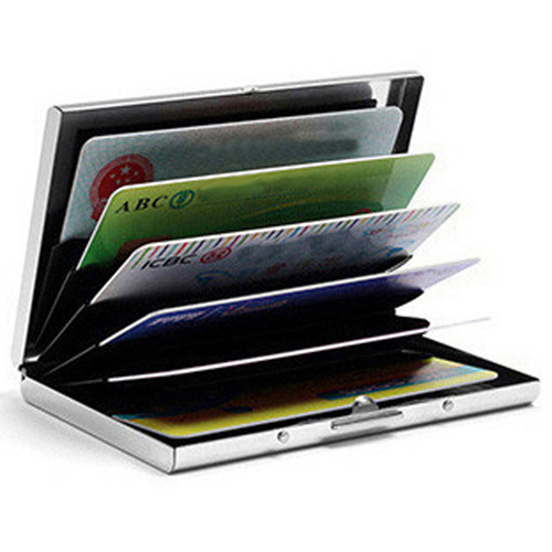 Stainless Steel 6 Slots Business Card Holder Image 2