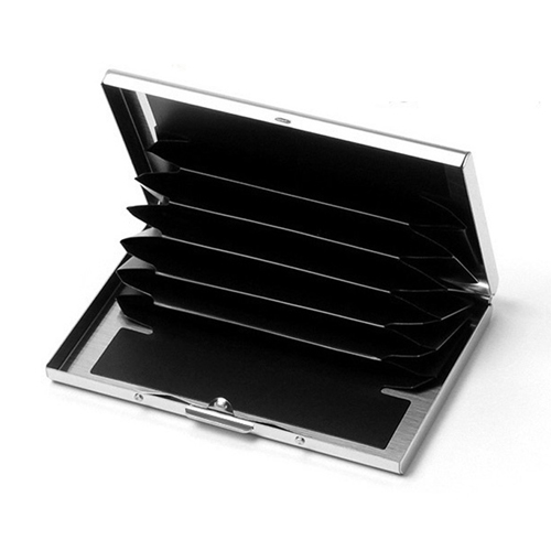 Stainless Steel 6 Slots Business Card Holder Image 3