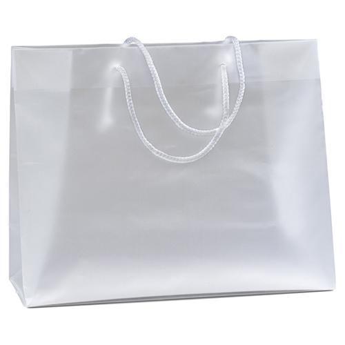 Macrame Handles Frosted Plastic Bag Image 1