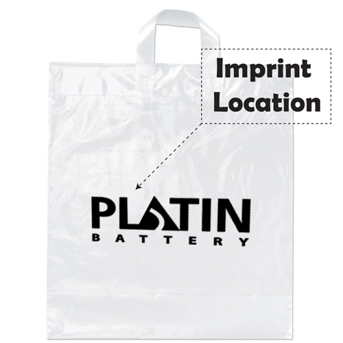 Soft Loop Shopper Plastic Bag Imprint Image