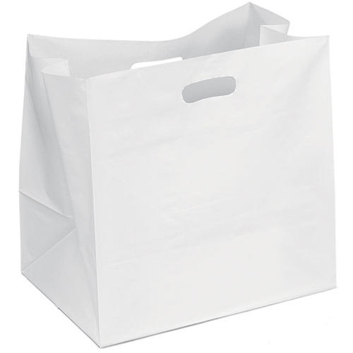 Wide Plastic Carry Bag Image 1
