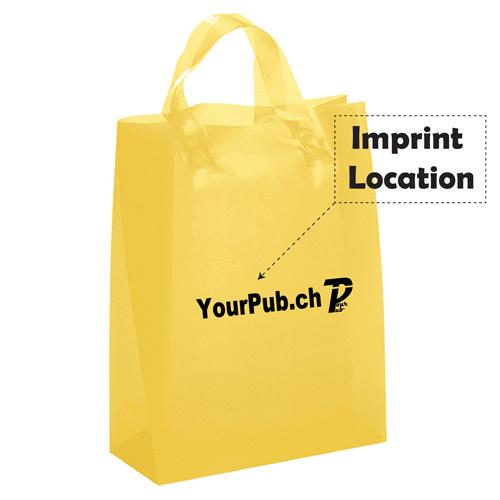 Frosted Brite Loop Handles Bag Imprint Image