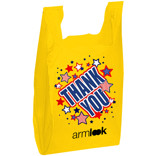 Durable Plastic T Shirt Bag