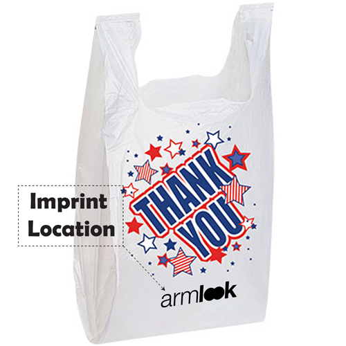 Durable Plastic T Shirt Bag Imprint Image