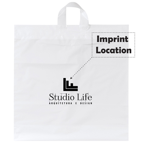 Soft Loop Shopper Simple Plastic Bag Imprint Image