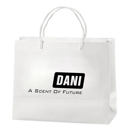 Personalized Matte Shopping Paper Bags Image 1
