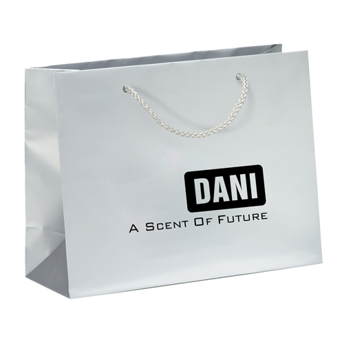 Personalized Matte Shopping Paper Bags Image 2