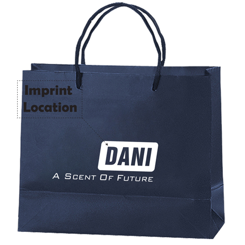 Personalized Matte Shopping Paper Bags Imprint Image