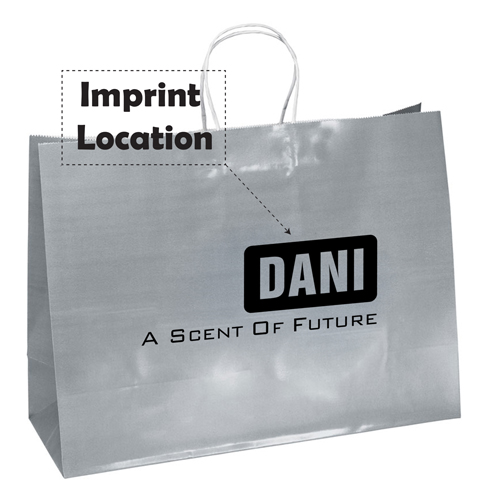 Promotional Custom Shopping Paper Bags Imprint Image