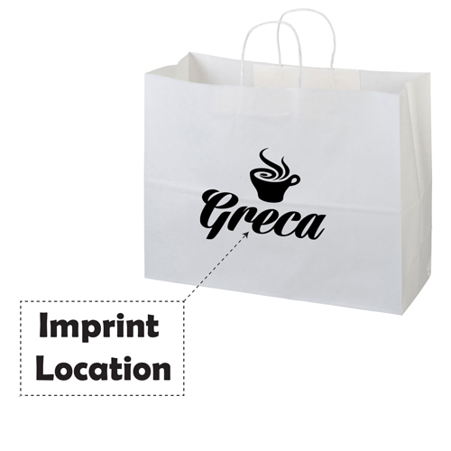 Twisted Handle Kraft Paper Bags Imprint Image