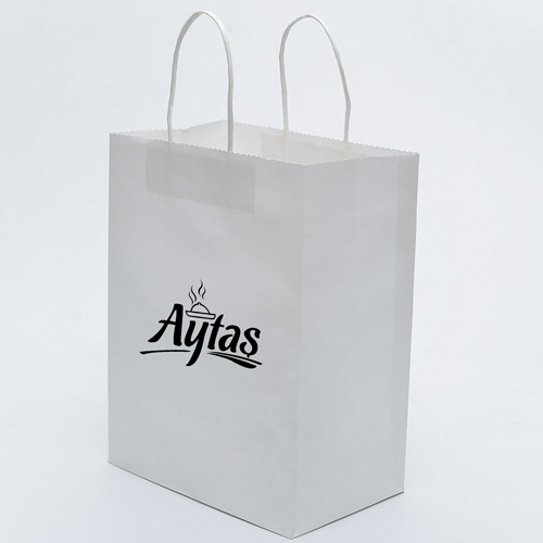 Kraft Paper Carry Retail Bags Image 2