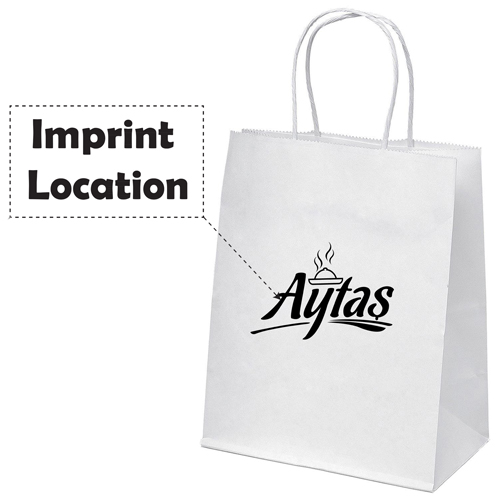 Kraft Paper Carry Retail Bags Imprint Image