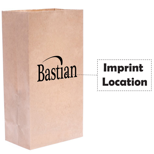 Flat Bottom Food Paper Bags Imprint Image