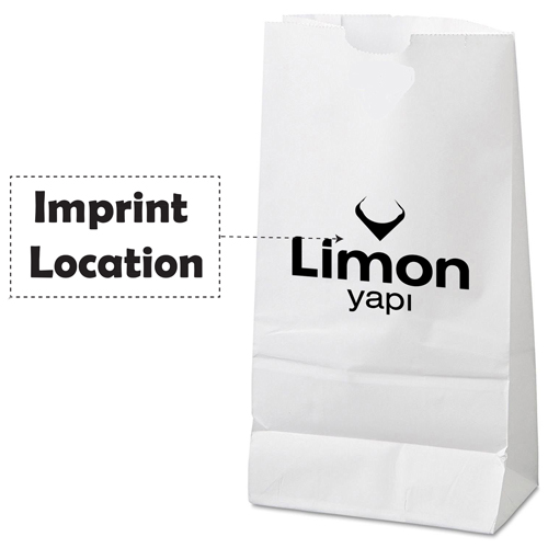 Kraft Merchandise Paper Bag Imprint Image