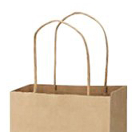 Kraft Paper Twisted Handles Wine Bags Image 1
