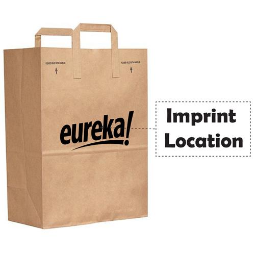 Kraft Paper Duro Handle Bag Imprint Image