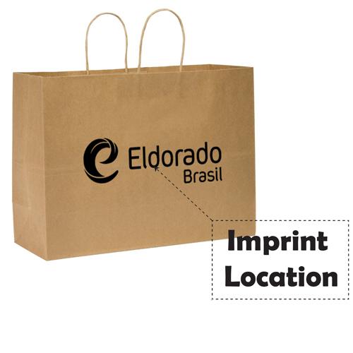 Kraft Paper Duro Tote Bag Imprint Image