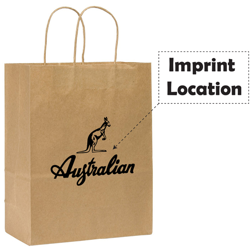 Kraft Paper Duro Shopping Bag Imprint Image