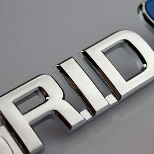 ABS Chrome 3D Car Logo Image 5