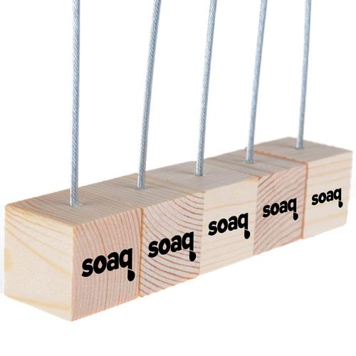 Wooden Cube Base Memo Clip Holder Image 1