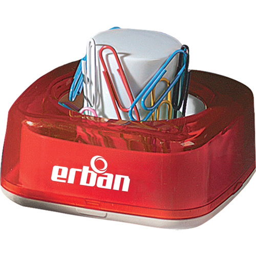 Magnetic Push Paper Clip Dispenser Image 1