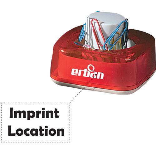 Magnetic Push Paper Clip Dispenser Imprint Image