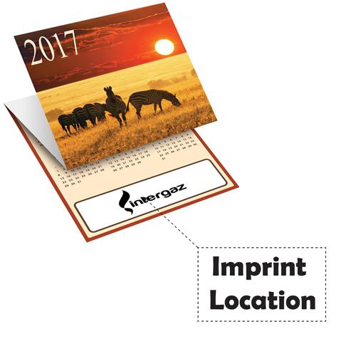 Unique Tri-Fold Calendar Imprint Image