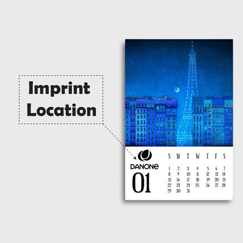 Mini Desk Calendar Imprint Image