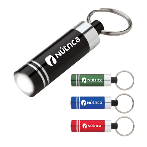 Aluminum LED Flashlight Keyring