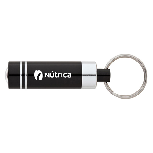 Aluminum LED Flashlight Keyring Image 1