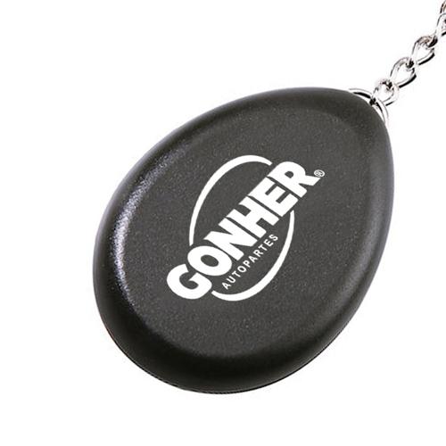 Oval Shaped Compass Keychain Image 3