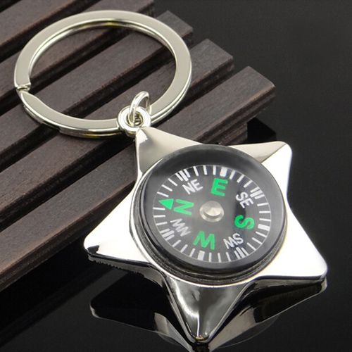 Mini Pentagram Compass Keychain