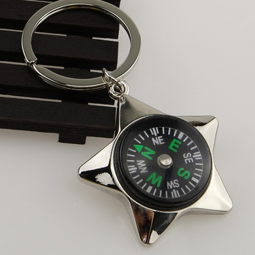 Mini Pentagram Compass Keychain Image 1