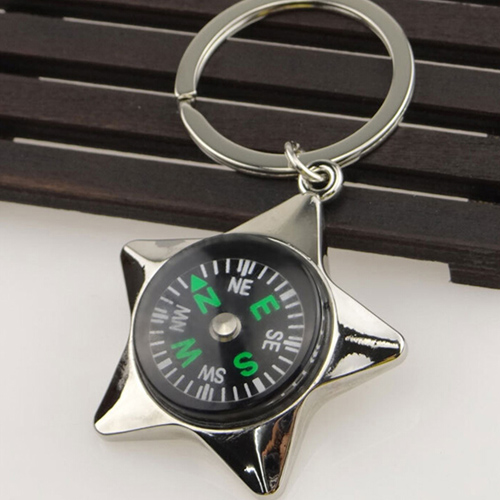 Mini Pentagram Compass Keychain Image 2