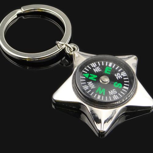 Mini Pentagram Compass Keychain Image 3
