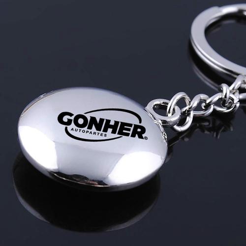 Round Compass Metal Keychain Image 1