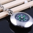 Round Compass Metal Keychain Image 3