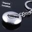 Round Compass Metal Keychain Imprint Image