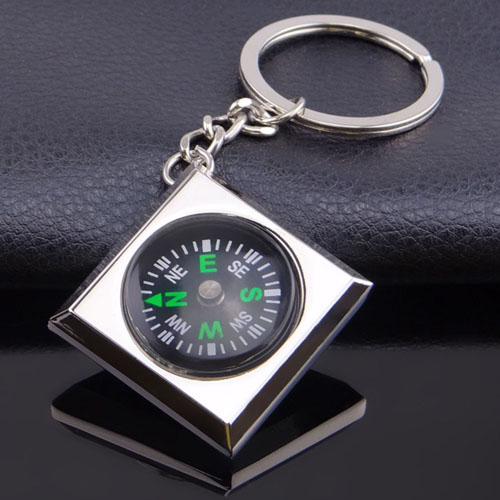 Waterproof Magnetic Compass Keychain