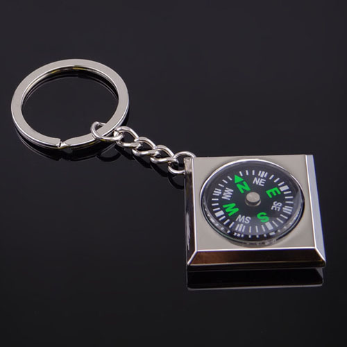Waterproof Magnetic Compass Keychain Image 1