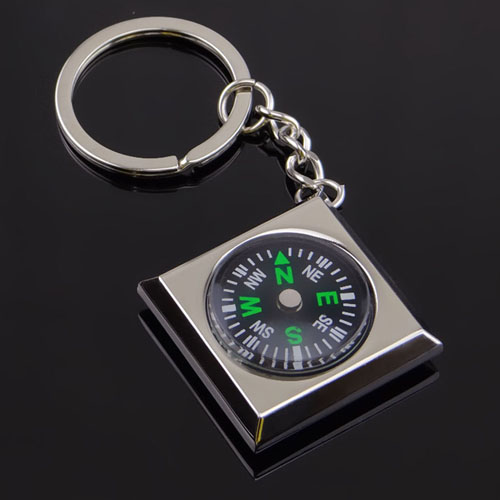 Waterproof Magnetic Compass Keychain Image 2