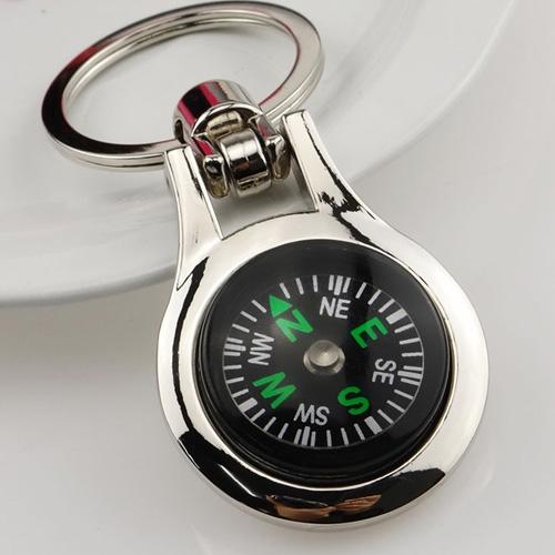 Multifunctional Compass Keychain Image 1