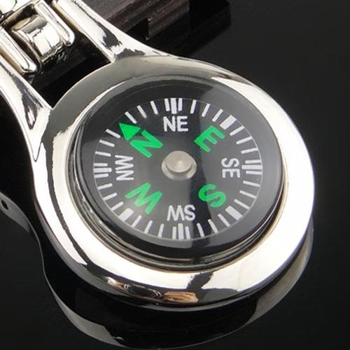 Multifunctional Compass Keychain Image 3