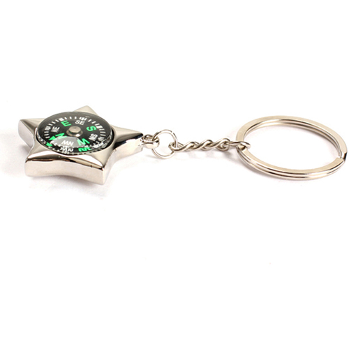 Star-Shaped Compass Keychain Image 2